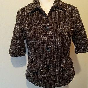 Short sleeve tweed jacket